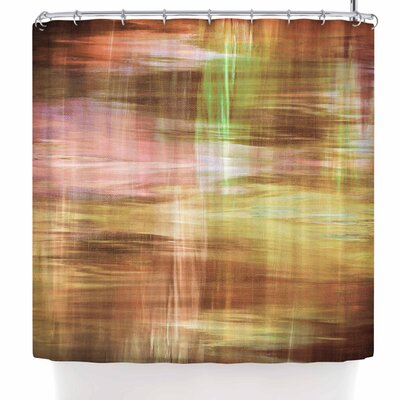 Ebi Emporium Blurry Vision 4 Shower Curtain Color: Yellow/Tan