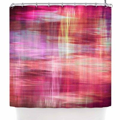 Ebi Emporium Blurry Vision 4 Shower Curtain Color: Pink/Magenta