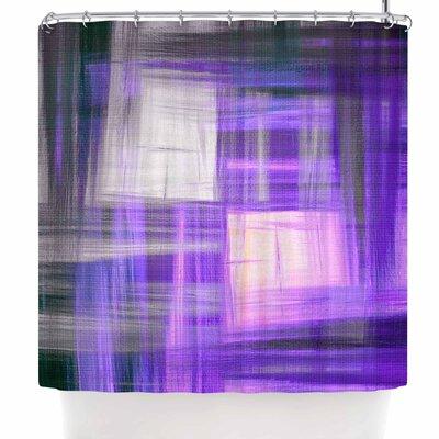 Ebi Emporium Tartan Crosshatch Shower Curtain Color: Purple