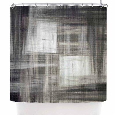 Ebi Emporium Tartan Crosshatch Shower Curtain Color: Gray