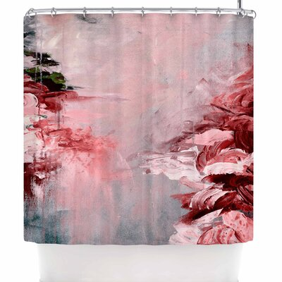 Ebi Emporium Winter Dreamland 5 Shower Curtain Color: Red/Gray