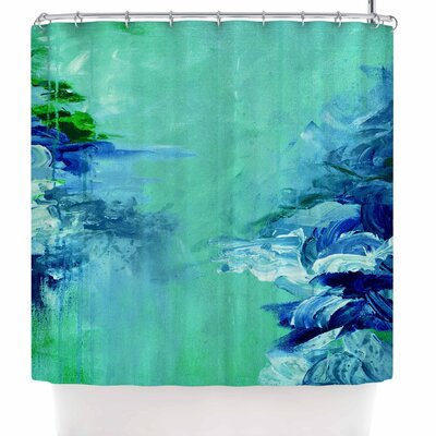 Ebi Emporium Winter Dreamland 5 Shower Curtain Color: Green/Blue