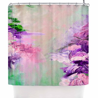 Ebi Emporium Winter Dreamland 5 Shower Curtain Color: Pink/Purple
