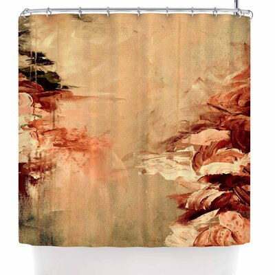 Ebi Emporium Winter Dreamland 5 Shower Curtain Color: Orange/Maroon