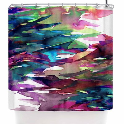 Ebi Emporium Fervor 4 Abstract Shower Curtain Color: Magenta