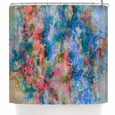 Ebi Emporium the Nexus 2 Shower Curtain Color: Blue/Coral