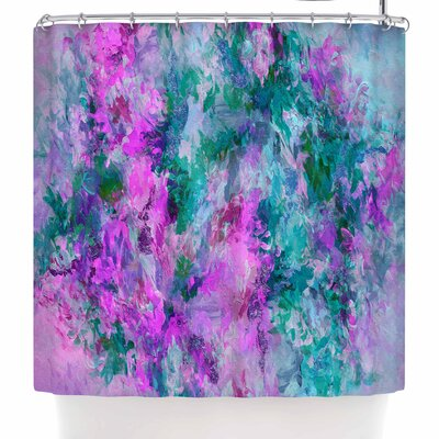 Ebi Emporium the Nexus 2 Shower Curtain Color: Pink/Teal