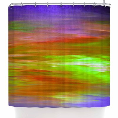 Ebi Emporium Bright Horizons 5 Shower Curtain Color: Orange