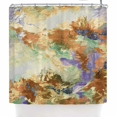 Ebi Emporium When We Were Mermaids 10 Shower Curtain Color: Lavender/Tan