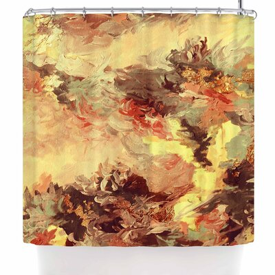 Ebi Emporium When We Were Mermaids 10 Shower Curtain Color: Yellow/Tan