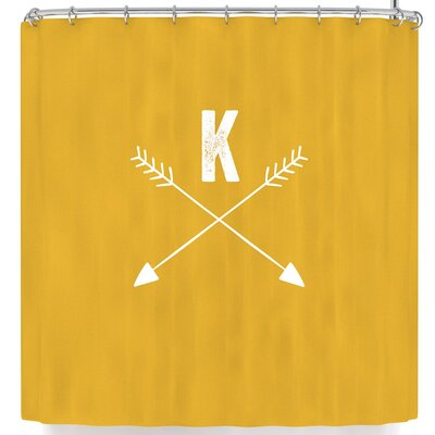 Arrow Monogram Shower Curtain Letter: K