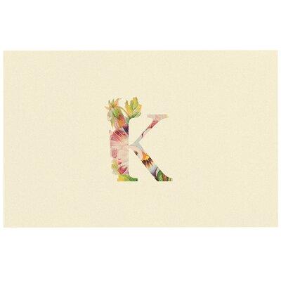 Floral Doormat Letter: K