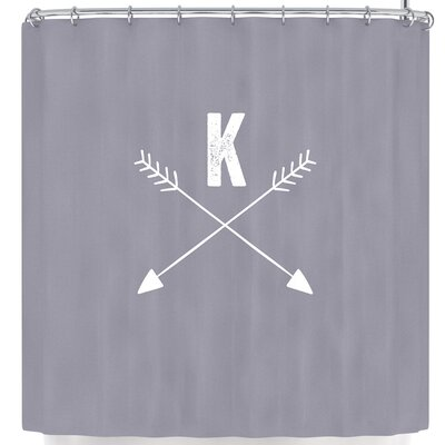 Arrow Monogram Shower Curtain Letter: V