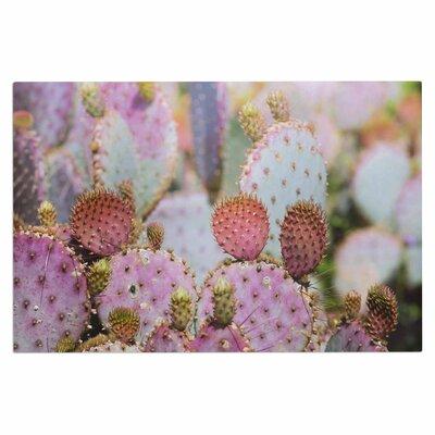 Ann Barnes Cotton Candy Cacti Doormat