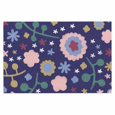 Alik Arzoumanian Night Floral Nature Doormat