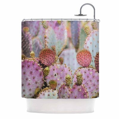 Ann Barnes Cotton Candy Cacti Shower Curtain