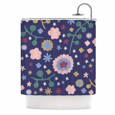 Alik Arzoumanian Night Floral Shower Curtain