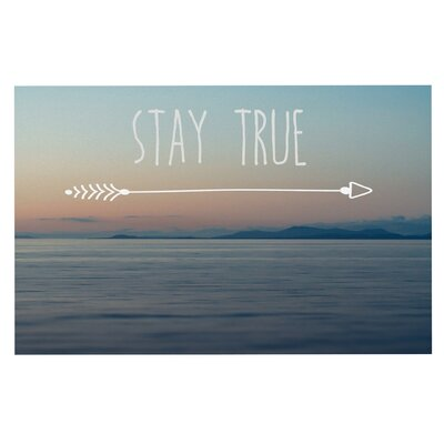 Ann Barnes Stay True Coastal Typography Doormat