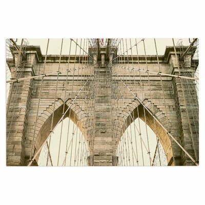 Ann Barnes Brooklyn Bridge Sunset Photography Doormat