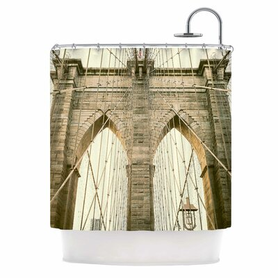 Ann Barnes Brooklyn Bridge Sunset Photography Shower Curtain