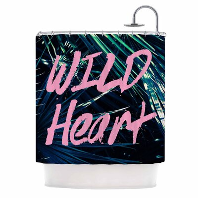 Ann Barnes Wild Heart 1 Shower Curtain