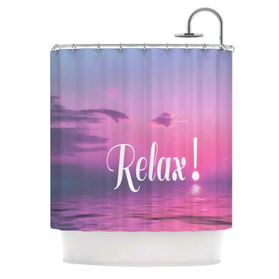 Alison Coxon Relax Typography Shower Curtain