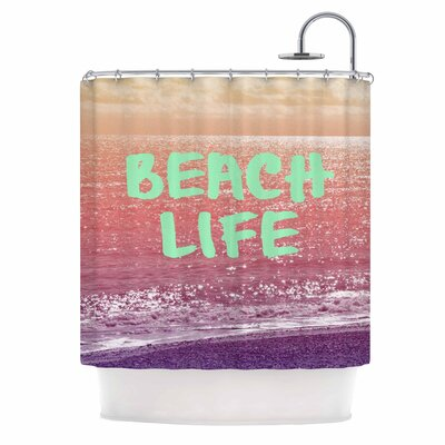 Alison Coxon Beach Life Coastal Shower Curtain
