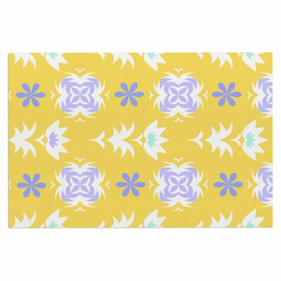 Alison Coxon Edwardian Tile Doormat Color: Yellow/White