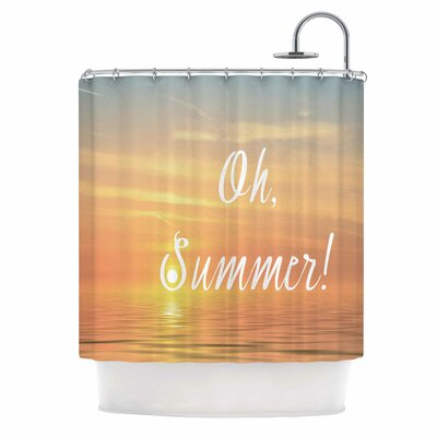 Alison Coxon Oh, Summer! Coastal Shower Curtain