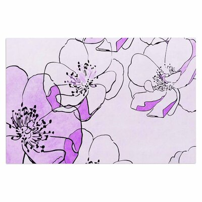 Alison Coxon Painted Wild Roses Floral Doormat Color: Purple/Pink
