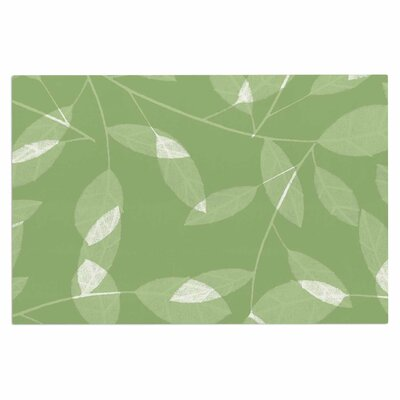 Alison Coxon Leaf Tawny Doormat Color: Green/Olive