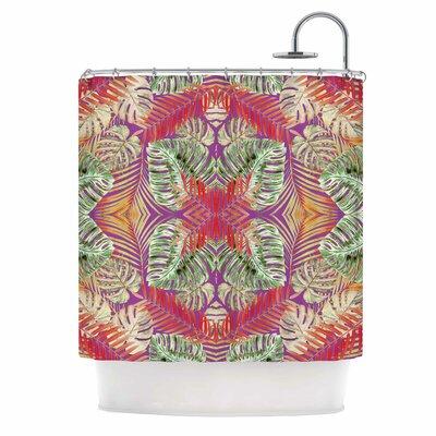 Alison Coxon Summer Jungle Love Shower Curtain Color: Green/Red/Purple
