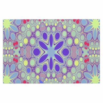 Alison Coxon Hippy Flowers Kaleidoscope Doormat