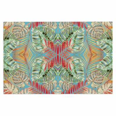 Alison Coxon Summer Jungle Love Doormat Color: Blue/Red/Aqua