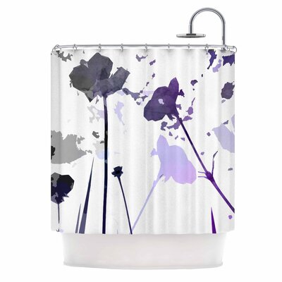 Alison Coxon Poppies Indigo Shower Curtain