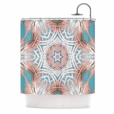 Alison Coxon Tribe and Teal Shower Curtain