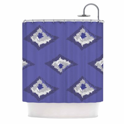 Alison Coxon Denim Ikat Blue Gray Shower Curtain