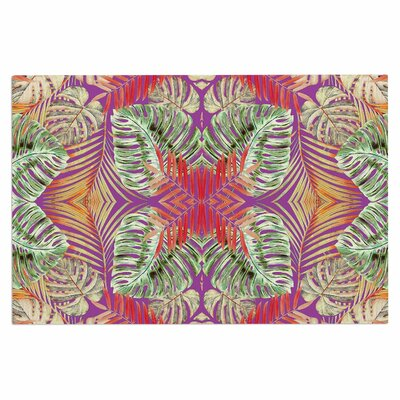 Alison Coxon Summer Jungle Love Doormat Color: Purple/Green/Red