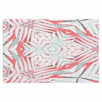 Alison Coxon Planthouse Saffron Doormat Color: Coral/Gray/Raspberry