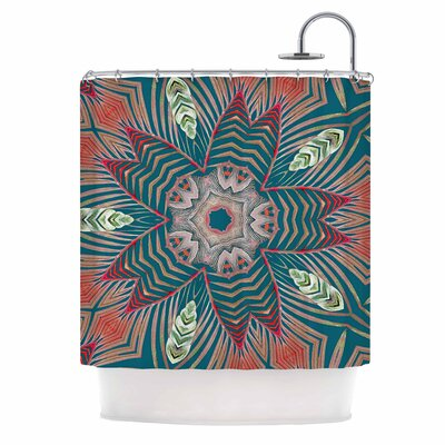 Alison Coxon Kitenge Shower Curtain Color: Green/Teal
