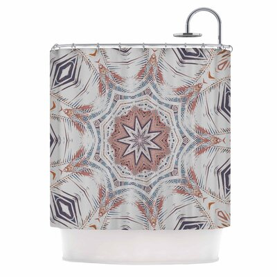 Alison Coxon Boho Dream Shower Curtain Color: Tan/Pink/Blue
