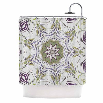 Alison Coxon Boho Dream Shower Curtain Color: Purple/Green/Olive