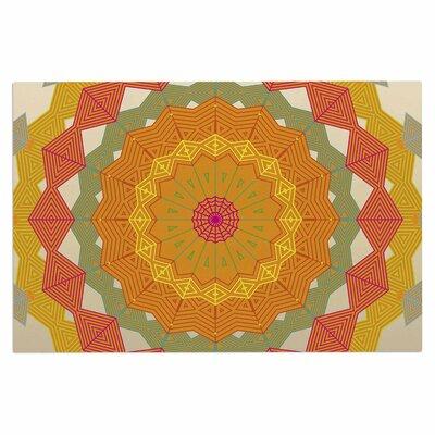 Angelo Cerantola Composition Doormat Color: Orange/Beoge