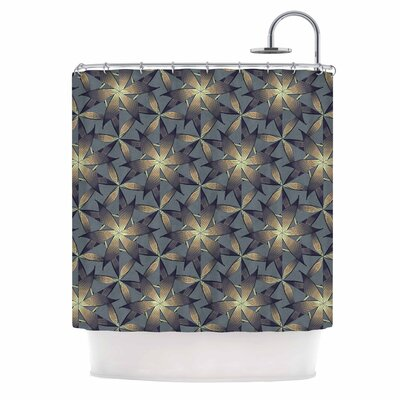 Angelo Cerantola Copper Flowers Illustration Shower Curtain