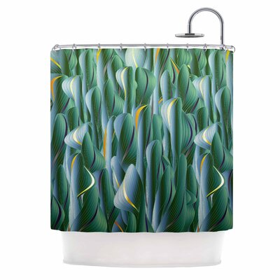 Angelo Cerantola Luscious Digital Shower Curtain Color: Green/Blue
