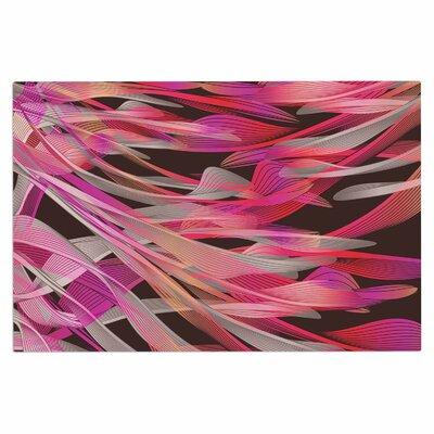 Angelo Cerantola Tropical Electric Abstract Doormat Color: Pink/Black