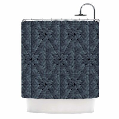 Angelo Cerantola Star Lounge Illustration Shower Curtain Color: Blue/Gray