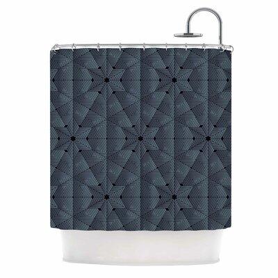 Angelo Cerantola Star Lounge Illustration Shower Curtain Color: Blue/Gray