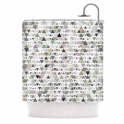 Angelo Cerantola Triangulation Geometric Shower Curtain