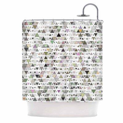 Angelo Cerantola Triangulation Geometric Shower Curtain
